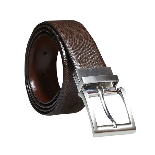 Cintura da uomo in pelle bata, marrone, 954-4123 - 13