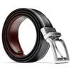 Cintura reversibile nera e marrone bata, nero, 954-6122 - 26