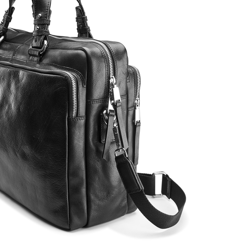 Business bag in pelle bata, nero, 964-6106 - 15