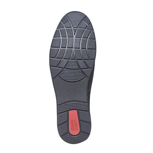 Scarpe basse informali di pelle bata-comfit, viola, 856-9183 - 26