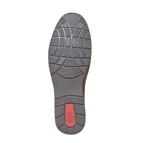 Scarpe basse informali di pelle bata-comfit, marrone, 856-3183 - 26