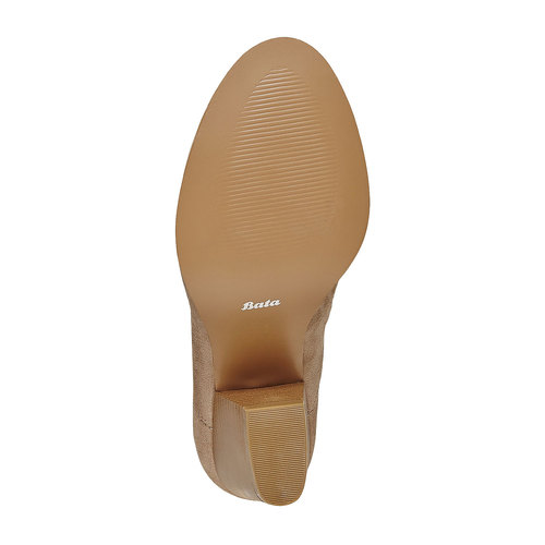 Stivaletti alla caviglia con perforazioni bata, beige, 799-8627 - 26