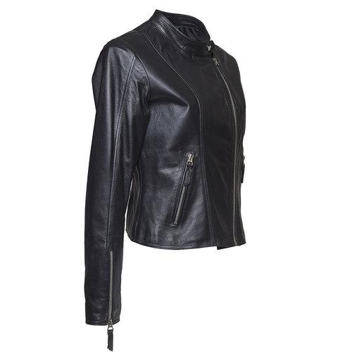 Giacca da donna in pelle bata, nero, 974-6145 - 16