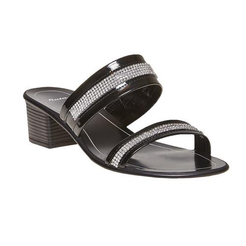 Sandal  bata, nero, 671-6111 - 13