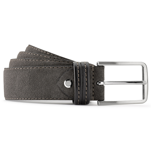 Cintura di pelle da uomo bata, grigio, 953-2807 - 13
