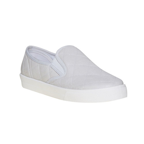 Slip-on trapuntate da donna north-star, bianco, 531-1125 - 13