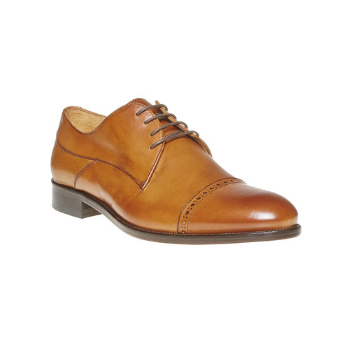 Scarpe basse di pelle in stile Derby bata-the-shoemaker, marrone, 824-3296 - 13