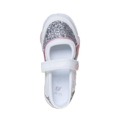 Scarpe da ragazza con glitter mini-b, bianco, 221-1186 - 19
