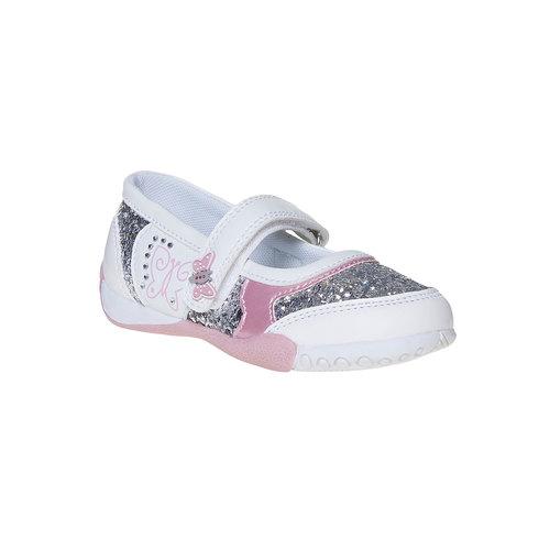 Scarpe da ragazza con glitter mini-b, bianco, 221-1186 - 13