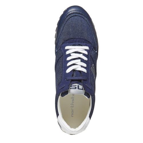 Sneakers da uomo con suola appariscente north-star, blu, 849-9691 - 19