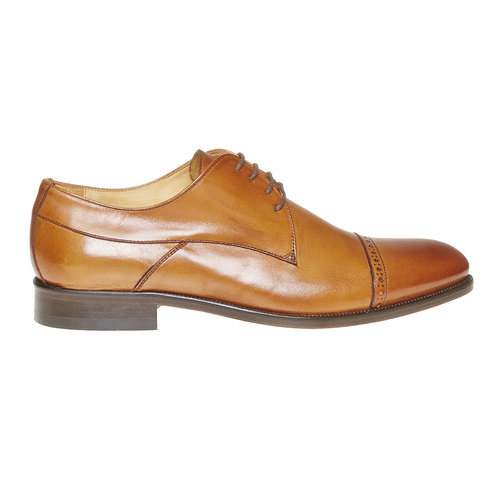 Scarpe basse di pelle in stile Derby bata-the-shoemaker, marrone, 824-3296 - 15