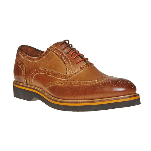 Scarpe basse marroni in stile Oxford bata-the-shoemaker, marrone, 824-8776 - 13