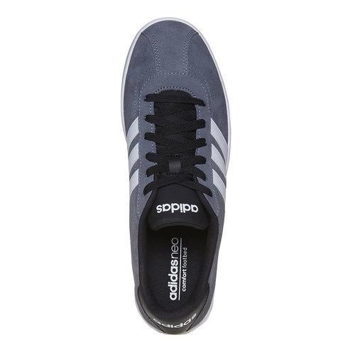 Sneakers da uomo in pelle adidas, grigio, 803-2222 - 19