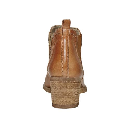 Stivaletti in pelle con cuciture bata, marrone, 694-3397 - 17