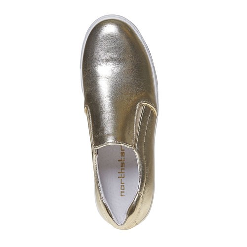 Scarpe dorate in stile Slip-on north-star, oro, 514-8265 - 19