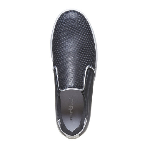 Scarpe in pelle in stile Slip-on north-star, nero, 514-6265 - 19