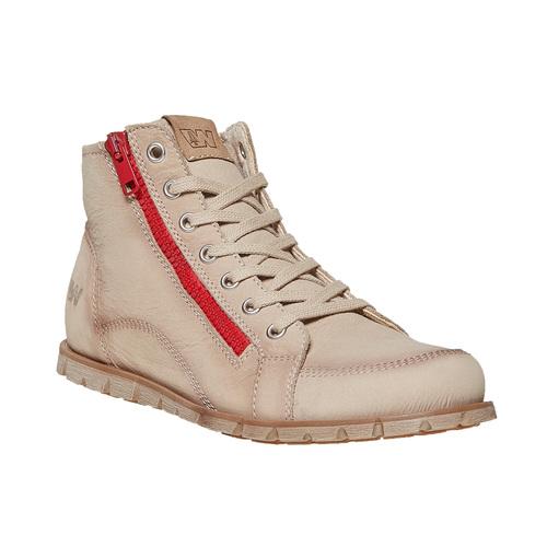 Scarpe da donna alla caviglia weinbrenner, beige, 596-8103 - 13