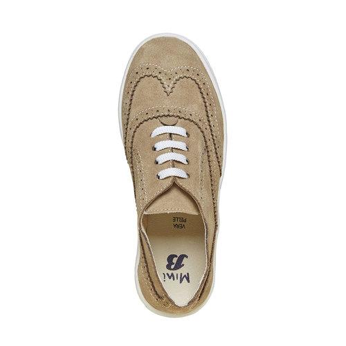 Sneakers da bambino di pelle, marrone, 313-3256 - 19