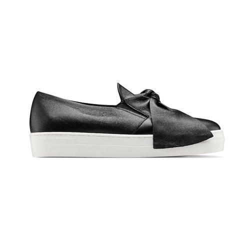 Sneakers in pelle con fiocco north-star, nero, 514-6264 - 26