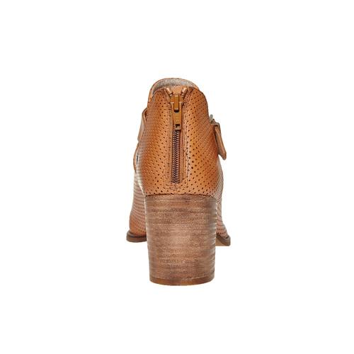 Stivaletti da donna con perforazioni bata, marrone, 794-3541 - 17