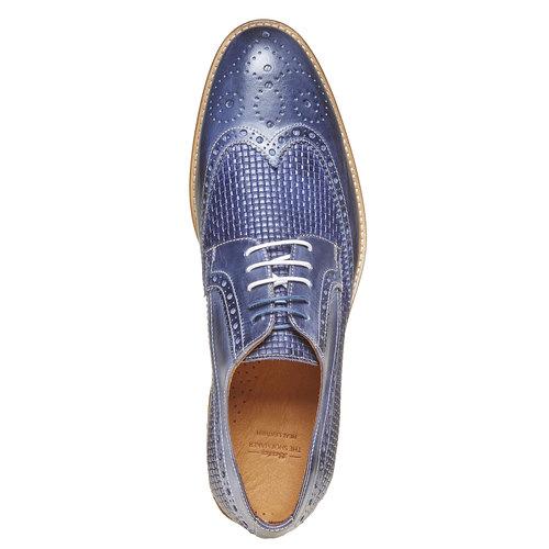 Scarpe basse di pelle da uomo bata-the-shoemaker, blu, 824-9302 - 19