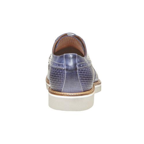 Scarpe basse di pelle da uomo bata-the-shoemaker, blu, 824-9302 - 17