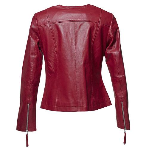 Giacca elegante di pelle bata, rosso, 974-5312 - 26