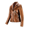 Biker da donna in pelle bata, marrone, 974-3162 - 16