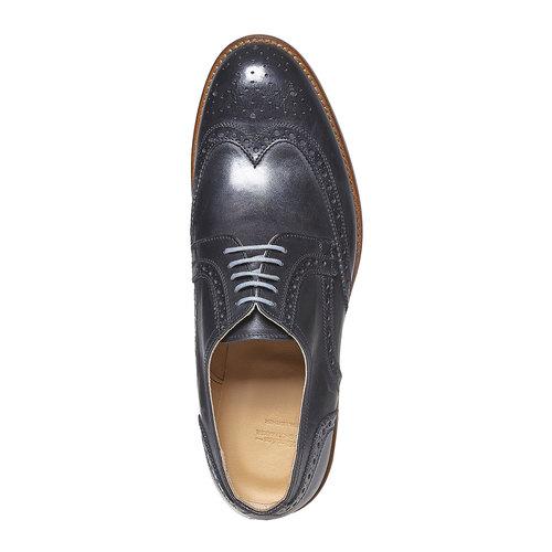 Scarpe basse di pelle con decorazione Brogue bata, nero, 824-6563 - 19