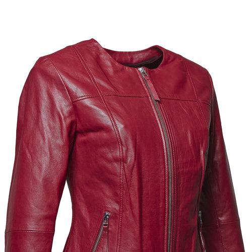 Giacca elegante di pelle bata, rosso, 974-5312 - 16