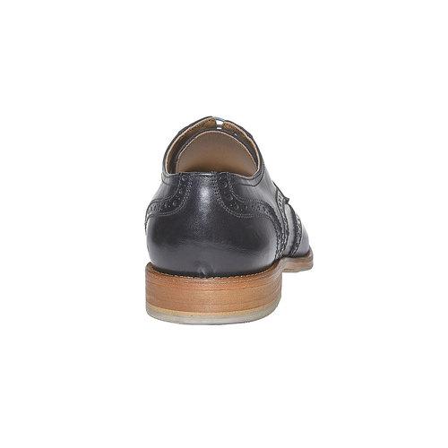 Scarpe basse di pelle con decorazione Brogue bata, nero, 824-6563 - 17