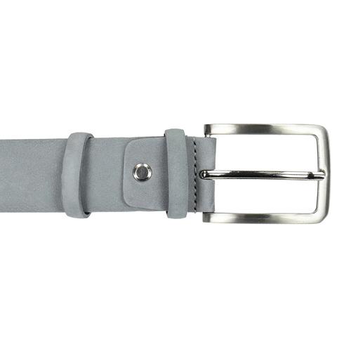 Cintura da uomo in pelle scamosciata bata, grigio, 954-2120 - 26