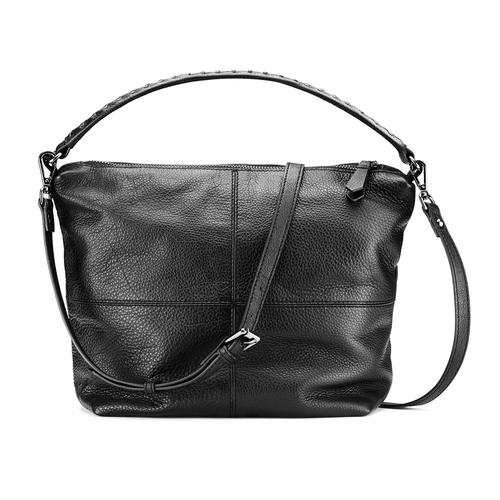 Borsa di pelle in stile Hobo bata, nero, 964-6121 - 26