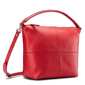 Borsa rossa in pelle in stile Hobo bata, rosso, 964-5121 - 13