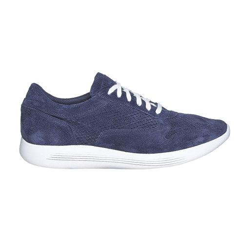 Sneakers in pelle da uomo flexible, blu, 843-9703 - 15