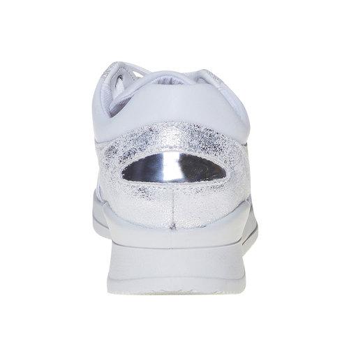 Sneakers da donna con dettagli metallizzati north-star, bianco, 541-1205 - 17