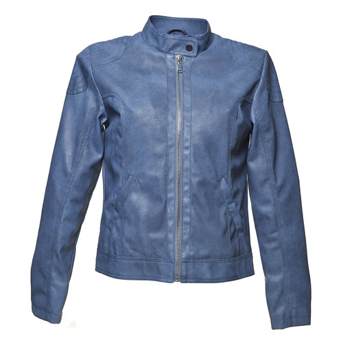Giacca da donna blu con trafori bata, viola, 971-9113 - 13