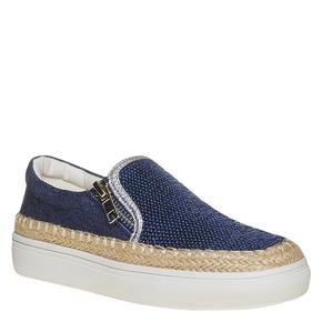 Slip-on da bambina con paillettes mini-b, blu, 329-9247 - 13