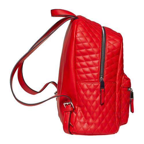Zaino rosso con cuciture bata, rosso, 961-5923 - 17