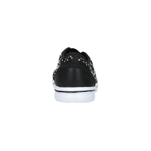 Slip-on da bambina con strass mini-b, nero, 329-6203 - 17