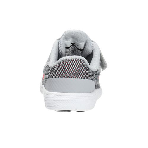 Sneakers da bambino con chiusura a velcro nike, grigio, 109-2149 - 17