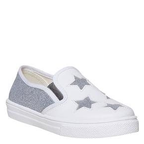 Slip-on da bambina con glitter north-star, bianco, 324-1274 - 13