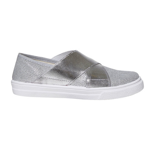 Slip-on metallizzate da bambina north-star, argento, 329-1279 - 15
