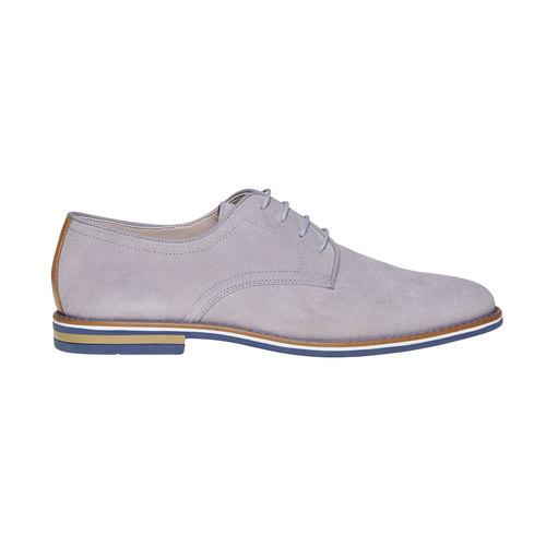 Scarpe basse casual di pelle bata, grigio, 823-2267 - 15