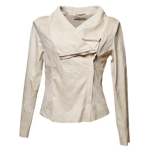 Giacca da donna con cerniera asimmetrica bata, beige, 979-8635 - 13