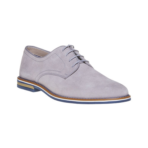 Scarpe basse casual di pelle bata, grigio, 823-2267 - 13