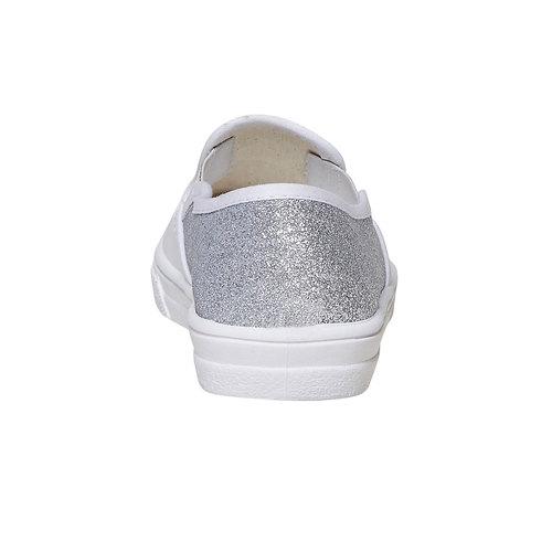 Slip-on da bambina con glitter north-star, bianco, 324-1274 - 17