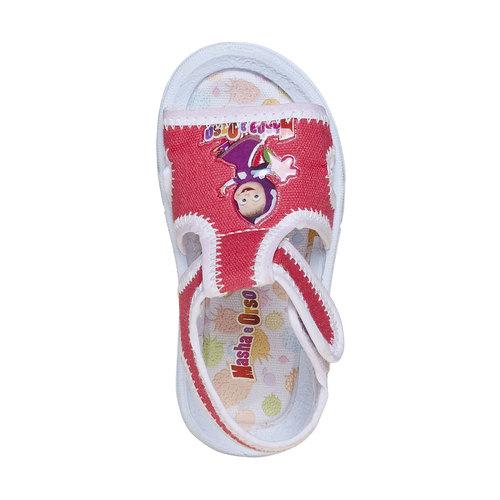 Sandali da bambina, rosso, 279-5148 - 19