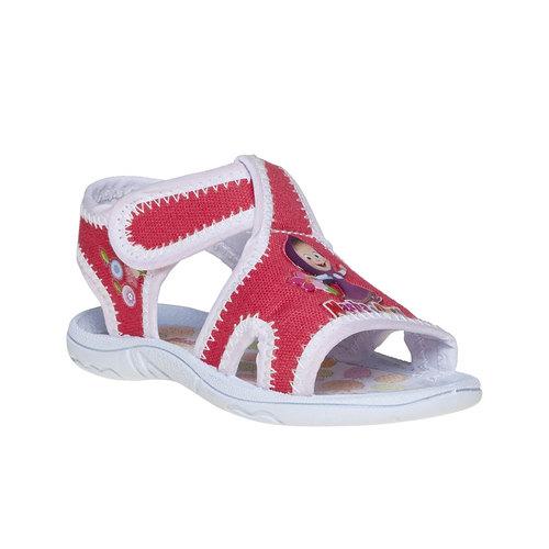 Sandali da bambina, rosso, 279-5148 - 13