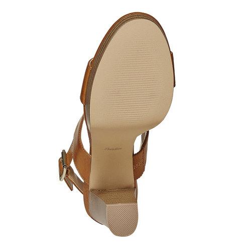 Sandali da donna con plateau insolia, marrone, 761-4727 - 26